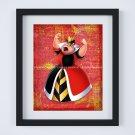 """Red Queen Dictionary Digital Art Print ~ 8"""" x 10"""" - Alice in Wonderland, Villian"""