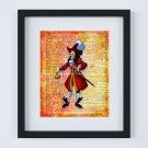 "Captain Hook Dictionary Digital Art Print ~ 8"" x 10 ~ Neverland ~ Peter Pan, Pirate"