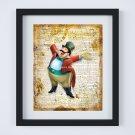 "The Ringmaster - Dumbo ~ Dictionary Digital Art Print ~ 8"" x 10"" Elephant Fly, Circus"