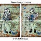 "Frankie Stein ~ Monster High Dictionary Digital Art Prints ~ 5"" x 7"""