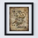 """Steampunk ~ Time Flies It's Up to You to be the Navigator ~ Digital Art Print ~ 8"""" x 10"""""""