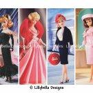 "Barbie ~ 12 Layered Digital Art Bookmarks ~ 2.5"" x 7"" - Retro, Vintage Barbie 1950's, 1960's"