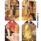 """Classic Barbie ~ 4 Layered Digital Art Tag Pages ~ 3"""" x 5"""" - Barbie, Ken, Skipper & Midge"""