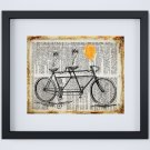 """Tandem Bicycle - Dictionary Digital Art Print ~ 10"""" x 8"""" ~ Bicycle built for two"""