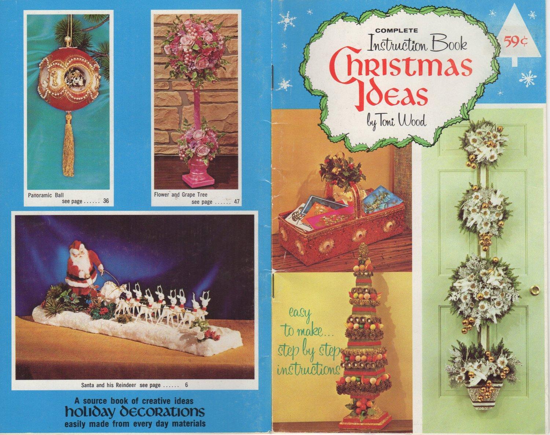 Vintage Christmas Ideas Instruction Book by Toni Wood ~ 1971 ~ Digital Magazine Booklet