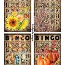 "Autumn Fall Watercolor Bingo Cards - 3.5 x 5"" ~ 16 Mixed Media"