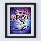 "Just a Bunch of Hocus Pocus ~ Dictionary Digital Art Print: 8"" x 10"" ~ Purple Watercolor ~ Halloween"
