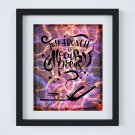"Just a Bunch of Hocus Pocus ~ Dictionary Digital Art Print: 8"" x 10"" ~ Flames Watercolor ~ Halloween"