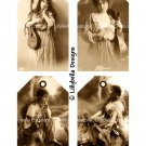 Vintage Style Gypsy - 3 x 5 inch Tags - 16 total