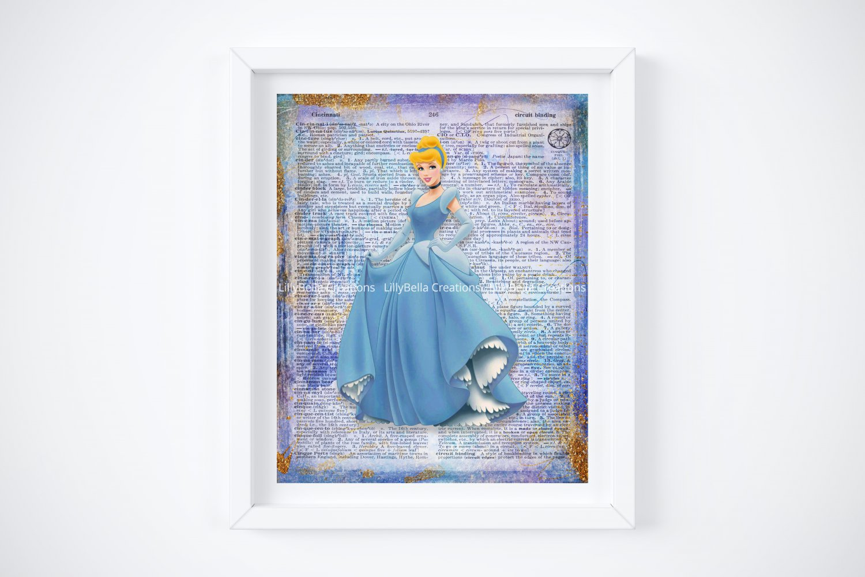 """Cinderella Dictionary Digital Art Print ~ 8"""" x 10"""""""