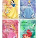 """Watercolor Princess Library Cards - 3.5 x 5"""" ~ 12 Mixed Media ~ Snow White, Cinderella, & many more"""