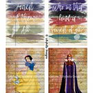 Snow White & Evil Queen Library Cards - 3.5 x 5 inch Note Card - 12 total Mixed Media & Watercolor