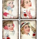 Vintage Style Lucky Strike Cigarettes - 3.5 x 5 inch Note Card - 8 total Advertising Ads Mixed Media