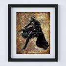"""Batman ~ DC Comics Dictionary Digital Art Print ~ 8"""" x 10"""" - Bruce Wayne - Dark Knight"""