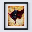 """Superman ~ DC Comics Dictionary Digital Art Print ~ 8"""" x 10"""" Justice League - Clark Kent"""