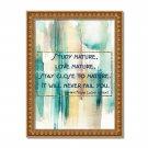 "Frank Lloyd Wright Quote Watercolor Digital Art Print ~ 11"" x 14"" Architect, Falling Water"