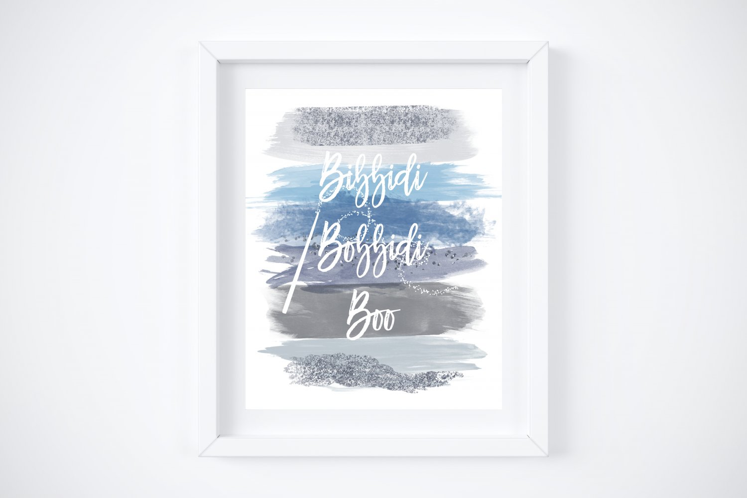 """Cinderella Watercolor Brush Art Print with Quote: 8"""" x 10"""""""