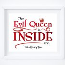"""2 Once Upon a Time Art Prints: 10"""" x 8"""" Quote by Regina the Evil Queen"""