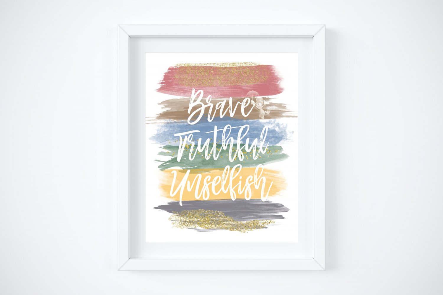 """Pinocchio ~ Watercolor Brush Art Print with Quote: 8"""" x 10"""""""