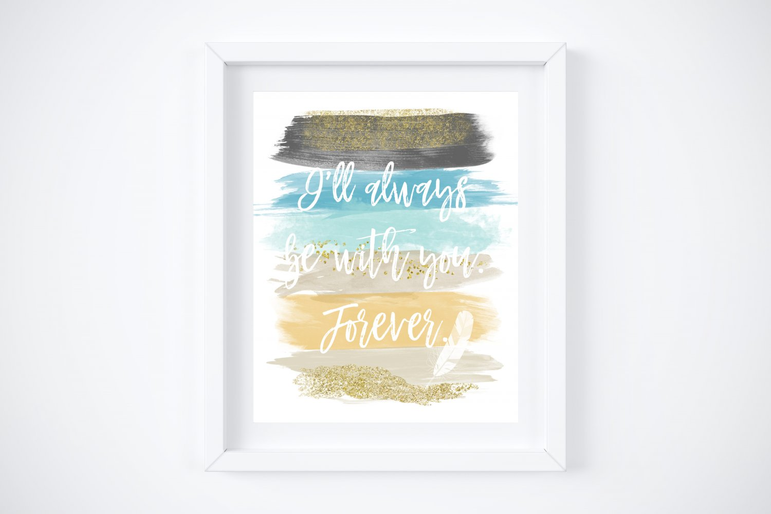 """Pocahontas - Watercolor Brush Art Print with Quote: 8"""" x 10"""""""