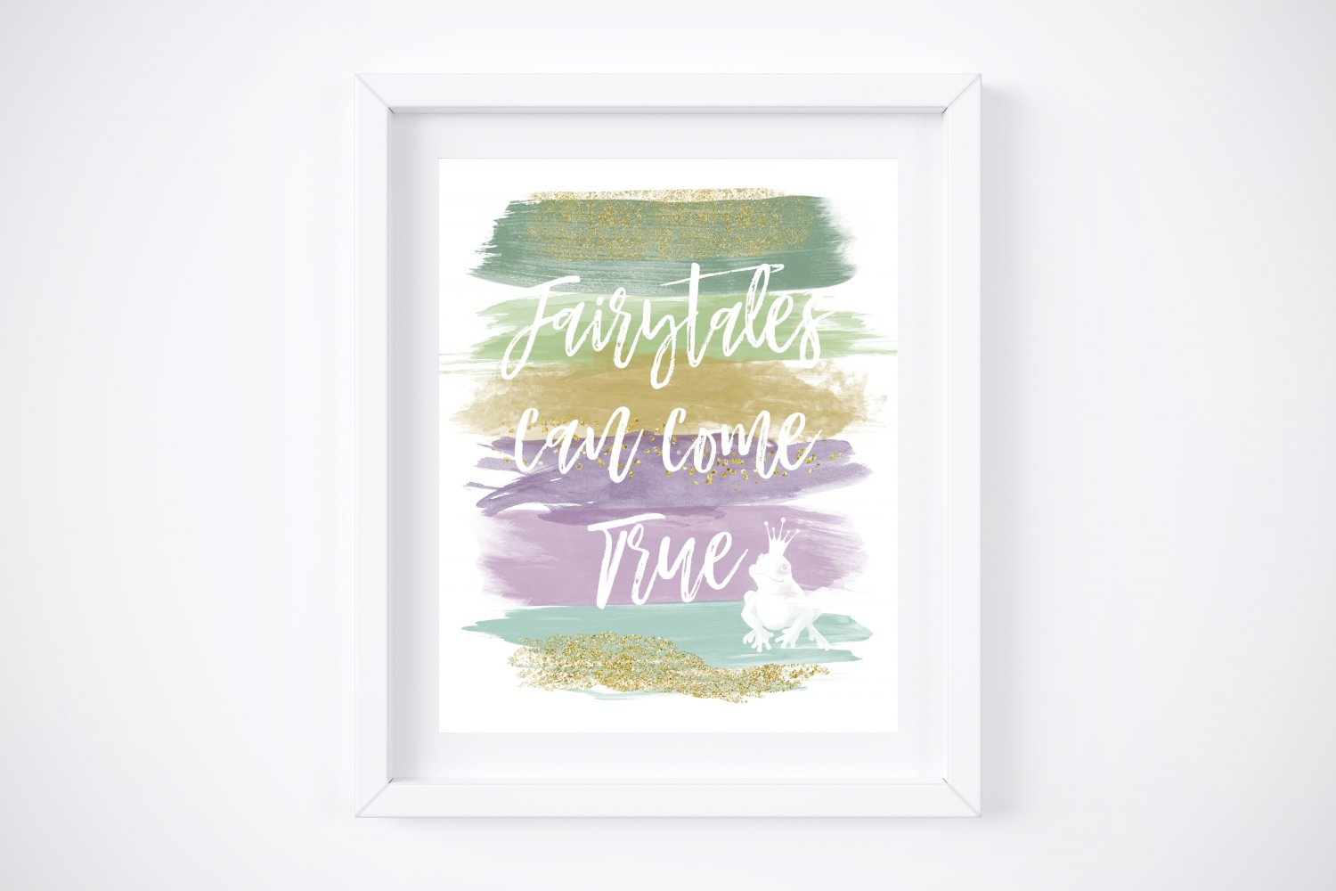 """Tiana - Princess and the Frog Watercolor Brush Art Print with Quote: 8"""" x 10"""""""