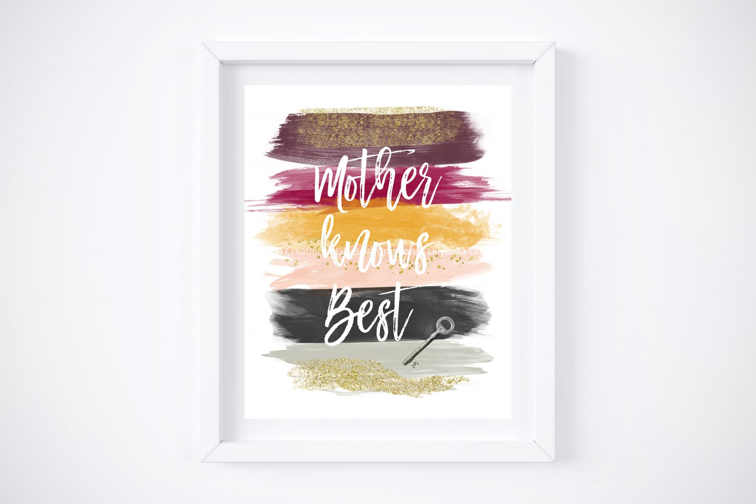 """Mother Gothel - Rapunzel - Tangled Watercolor Brush Art Print with Quote: 8"""" x 10"""""""