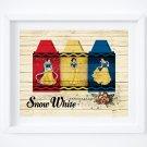 "Snow White Crayola Digital Art Print  14"" x 11"""