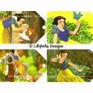 Snow White and Evil Queen - 3 x 5 inch Color and Sepia Tones - 16 tags total