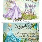 Easter / Spring Cinderella - 5 x 7 inch Color Postcards - Vintage Style - 2 total