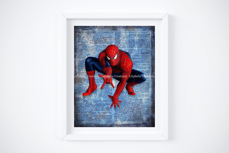 "Spider-man ~ Marvel Dictionary Digital Art Print ~ 8"" x 10"""