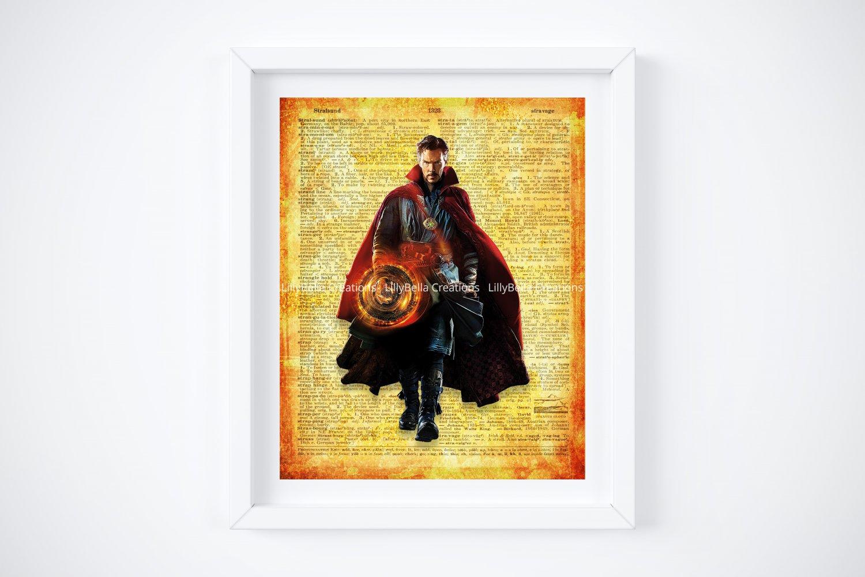 "Doctor Strange ~ Marvel Dictionary Digital Art Print ~ 8"" x 10"""
