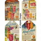 Vintage Style Library Cards Kool-Aid - 3 x 5 inch Tags - 16 total - Advertising Ads Mixed Media