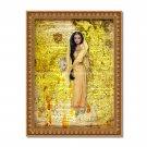 "India Barbie Dictionary Digital Art Print ~ 8"" x 10"" - Watercolor, Bollywood, Sari, Classic"