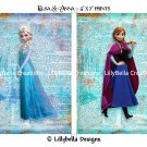 """Elsa and Anna ~ Frozen Dictionary Digital Art Prints ~ 5"""" x 7"""""""