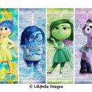 Inside Out Emotions ~ 8 Digital Art Bookmarks ~ Pixar, Joy, Sadness, Disgust, Fear, Anger, Riley