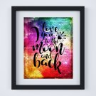 """Love You to the Moon and Back ~ Dictionary Digital Art Print: 8"""" x 10"""" ~ Multi-color Watercolor"""