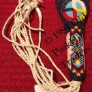 Handcrafted Beaded Flat Fan Handle 0281 - Spirit