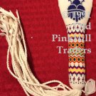 Handcrafted Beaded Flat Fan Handle 0277 - Rain Cloud