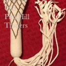 Handcrafted Beaded Flat Fan Handle 0278 - Thatch