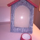 Dog House Shaped 4''x6'' Photo Frame Dog Bowl Tea Light Holder From PartyLyte