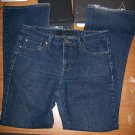 Womens Size 6 Calvin Klein Flare Dark Wash Denim Stretch Jeans