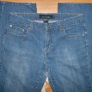 Womens Size 6 Calvin Klein Low Rise Straight Leg Denim Stretch Jeans Medium Wash