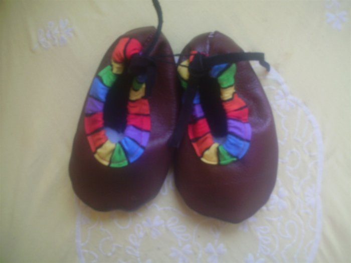 Boys Soft Sole leather Shoes Size 4 Crib Pre walker