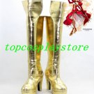 Fate stay Fatestay Night Cosplay Saber Gold Cosplay Boots shoes 12