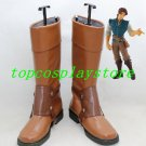 Tangled Rapunzel Flynn Rider pu leather ver cos Cosplay Shoes Boots shoe boot style 2