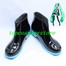 VOCALOID MIKU short black with blue sole cosplay shoes boots