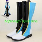 Vocaloid Kaito black blue white version cosplay shoes shoe boots boot