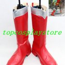 Power Rangers Super combat team Power Ranger Cosplay Shoes boots red ver  #15YJZ11