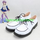 anime Rosario and Vampire Shirayuki Mizore PU Leather Cosplay Shoes white Hand made