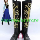 Frozen Princess Anna Cosplay Shoes Boots high heel ver one #15YJZ85